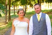 Портреты жениха невеста, свадебный день — Стоковое фото