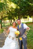 Bride Groom Thank You Banner — Stock Photo