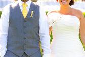 Headless Bride and Groom — Stock Photo