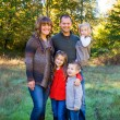 Family of Five Outdoors — Stockfoto #37426947