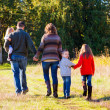 Family of Five Outdoors — Stockfoto #37427451
