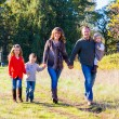 Family of Five Outdoors — Stockfoto #37428355
