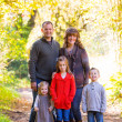 Family of Five Outdoors — Foto Stock #37429487