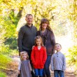 Family of Five Outdoors — Stockfoto #37429613