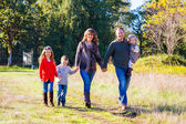 Family of Five Outdoors — Stockfoto