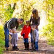 Family of Five Outdoors — Foto Stock #37431413