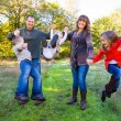 Family of Five Outdoors — Stockfoto #37432601