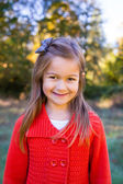 Girl in Red Sweater Portrait — Stock Photo
