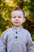 Young Boy Outdoors Portrait — Stock Photo