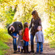 Family of Five Outdoors — Foto Stock #37465617
