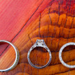 Wedding Rings Macro — Stock Photo
