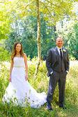 Wedding Couple Bride and Groom Portraits — Stock Photo