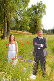 Wedding Couple Bride and Groom Portraits — Stockfoto