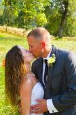 Portraits de mariage couple mariés — Photo