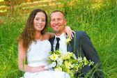 Wedding Couple Bride and Groom Portraits — Stockfoto