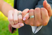 Pinky Swear Wedding Rings — Stock Photo