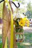 Wedding Day Floral Arrangements — Stock Photo