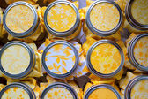 Wedding Drink Jars with Yellow — Stock Photo