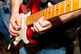 Detalle del guitarrista — Foto de Stock