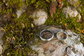 Wedding Ring Detail from Winery Wedding — Stock Photo