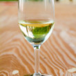 White Wine in Glass — Stock Photo #40937021