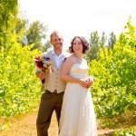 Vineyard Wedding Couple Portrait — Stock Photo #41171085