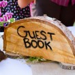 Crosscut Tree Guest Book Sign — Stock Photo #41170755