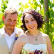 Vineyard Wedding Couple Portrait — Stock Photo