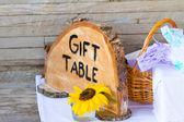 Dar tabela drzewa znak — Zdjęcie stockowe