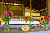 Albero a tema matrimonio ricevimento arredamento — Foto Stock