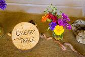 Дерево тематические свадьбы прием декора — Стоковое фото