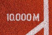 Track and Field Running 10,000m Mark — Stock Photo
