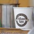 Stock Photo: Allann Bros Coffee Cup Eugene, OR