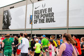 Marathon Runners Racing in Eugene, OR — Stock Photo