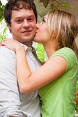 Happy Engaged Couple — Stock Photo