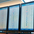 Stock Photo: Airline Departure Arrival Reader Boards