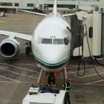Alaska Airlines Flight Boarding — Stock Photo