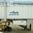 Alaska Airlines Boarding — Stock Photo