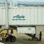 Alaska Airlines Boarding — Stock Photo