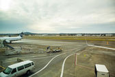 Empty Runway at PDX — Stock Photo