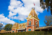 Disney Railroad Station — Stock Photo