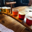 Craft Beer Sampler — Stock Photo