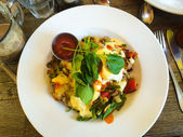 Eggs Benedict Breakfast Plate — Stock Photo