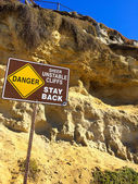 Danger Unstable Cliffs — Stock Photo