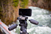 Manfrotto KLYP Lens and Tripod System for iPhone — Stock Photo