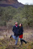 Happy Engaged Couple Portrait — Stock Photo
