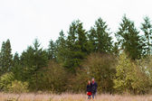 Engaged Couple Outdoors — Foto Stock