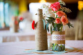 Wedding Reception Table Centerpieces — Stock Photo