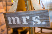 Wedding Decor Mr and Mrs Sign — Foto de Stock