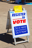 Voter Registration at the University of Oregon — Stock Photo
